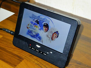 """Bush Portable DVD and Video Player 7"""" LCD Battery AV-IN Car or Wall PDVD-163C"""