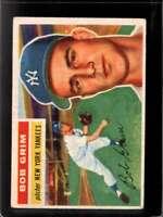 1956 TOPPS #52B BOB GRIM FAIR YANKEES WHITE BACKS *NY3123