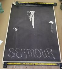 """Rare 1969 Larry Vincent """"Sinister Seymour"""" Fright Night KHJ-TV Fan Club Poster"""