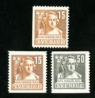 Sweden Stamps # 313-5 Very Scarce NH