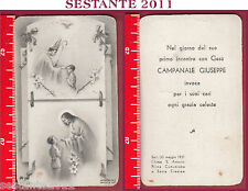 749 SANTINO HOLY CARD RICORDO PRIMA COMUNIONE E SANTA CRESIMA 1951 BARI