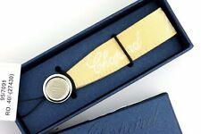 "Chopard 95/7091 Yellow Canvas Phone Strap Silver C Logo Monogam  3.5"""