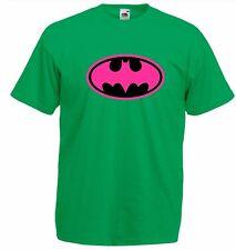 BATGIRL Pink / Black Logo , Super Hero Bat girl T Shirt man ladies costume