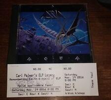 Carl Palmer (ELP) Asia AQUA Signed cd w/ ticket stub