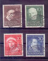 Bund 1951 - Wohlfahrt - MiNr.143/146 Top rund gestempelt - Michel 140,00 € (911)