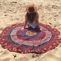 Boho Indian Round Mandala Tapestry Wall Hanging Throw Towel Beach Yoga Mat Decor