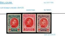 BELGIUM 1915 RED CROSS SET(3).MOUNTED MINT.SG# 157-58