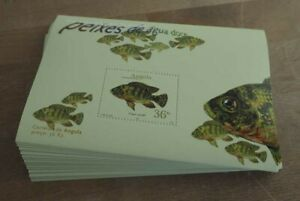 2001 Angola; 100 Blocks Süßwasserfische, postfrisch/MNH, Bl. 96, ME 700,-
