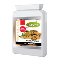 Hemp Seed Oil 1000mg 150 Capsules Rich Source Of Omega 3 & 6 Purvitz