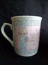 Precious Moments Mug Coffee Cup Angel of Mercy Nurse 1991 Pink 513474