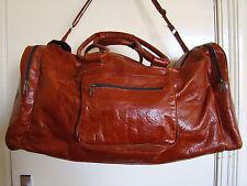 Moroccan Leather XL Boho Shoulder/ Messenger Travel Holdall Weekend Gym Bag