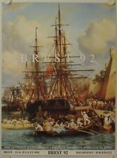 Affiche Fête Maritime BREST 1992
