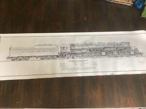 Baltimore & Ohio Railroad Train Locomotive Art Print by William Berkompas 1984