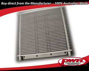 PWR HD TRANSMISSION OIL COOLER 280x255x19mm Dash -6 AN fittings 30-Rows PWO1223