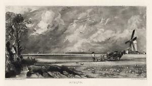 """John Constable / David Lucas """"Spring"""" mezzotint engraving"""