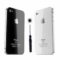 White  iPhone 4S Back Battery Cover Glass Plate Housing Replaceme