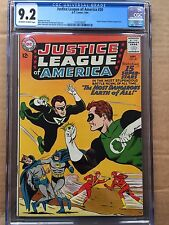 JUSTICE LEAGUE OF AMERICA #30 CGC NM- 9.2; OW-W; JSA x-over!