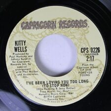 Rock 45 Kitty Wells - I'Ve Been Loving You Too Long (to stop now)