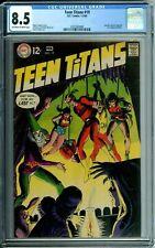 TEEN TITANS 19 CGC 8.5 SPEEDY AQUALAD DC Comics SILVER AGE - 1969 NEW CGC CASE