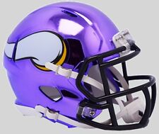 MINNESOTA VIKINGS NFL Riddell SPEED Mini Football Helmet CHROME