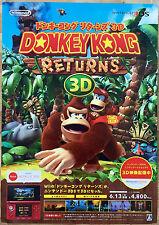Donkey Kong Returns 3D RARE 3DS 51.5 cm x 73 cm Japanese Promo Poster