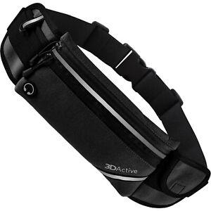 3DActive Running Belt PLUS Waist Pack Water Resistant Runners Belt Bumbag Pouch