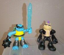 TMNT Half Shell Heroes 2 Figures SLASH and BEBOP Teenage Mutant Ninja Turtles