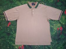 Vintage Burberrys Men's Short Sleeve Polo Shirt Tan Golf Embroidered Usa Made