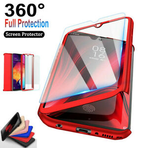 For Samsung Galaxy A10e A20 A30 A50 360°Shockproof Case+Tempered Glass Protector