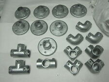 """18pc Kee Klamp Safety 90 Degree Side Outlet  Elbow  Flange 1-1/2"""" Two Socket Tee"""
