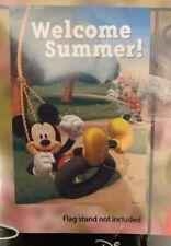 "Disney Garden Flag Mickey & Minnie Mouse ""Welcome Summer"" (12""x18"")"