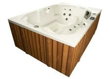 Outdoor Whirlpool Hot Tub MADE IN GERMANY mit Heizung Ozon LED Spa weiss 3 Pers.