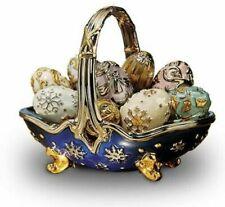 Nib Faberge Winter 9 Egg Basket New In Box Franklin Mint