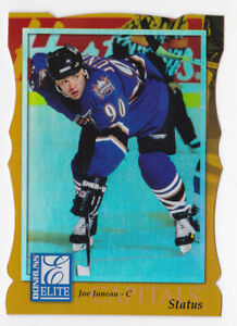 97-98 Donruss Elite Joe Juneau /100 STATUS Parallel Capitals 1997