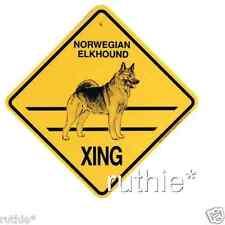 Norwegian Elkhound Dog Crossing Xing Sign New