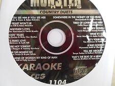 Monster Hits Karaoke CD+G vol-1104/ Faith Hill &Tim Mcgraw,Shania T & Bryan W