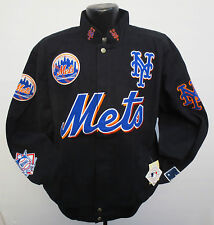NEW YORK METS MENS ADULT JACKET BY GIII G3 COTTON TWILL BASEBALL MLB NATIONAL
