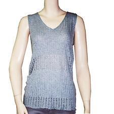 CHIPIE tee shirt débardeur cotelé  femme gris taille 3  38-40