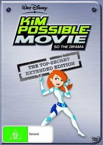 Kim Possible Movie - So The Drama DVD (PAL, 2006) RARE - FREE POST