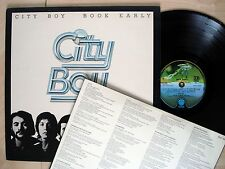 City Boy Book Early + Lyric Inner 1Y//3 2Y//3 UK LP Vertigo 9102 028 1978 EX/NM