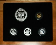 1992 Mexico Aztec Silver & Gold Proof Set 1/4oz Gold, 6.75 oz Silver NO RESERV