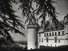 1927 Vintage FRANCE Chateau de Chaumont Castle Architecture Photo By HURLIMANN