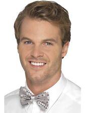Smiffys Cravate À Paillettes pour Hommes (argent)