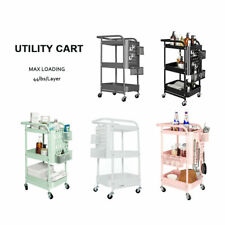 New listing 3-Tier Rolling Cart Mobile Storage Organizer Trolley Cart Shelf with Wheels New