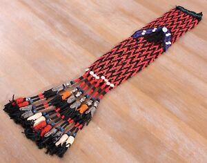 "4.72"" x 28.35"" Tassel Hair Dress Belly Dance Uzbek VINTAGE FASTShipmentUPS 11492"