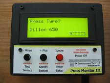 Press Monitor III for Dillon 550 650 Hornady Counter Statistics (Black, Auto)