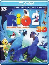 Blu Ray RIO 2  - (3D) (3 Dischi) *** Missione Amazzonia *** ..NUOVO