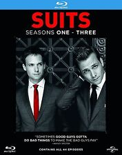 Suits Suites Complete Collection Series 1-3 Blu Ray Box Set Season 1 2 3 UK New