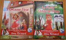 Livre CD 2 CONTES ENFANTS RACONTES PRINCESSE FLEUR + LE PETIT CHAPERON ROUGE