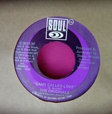 THE ORIGINALS - Game Called Love / Ooh You - clean 45 rpm -Soul 35113